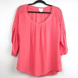 Anthropologie Maeve Braxton Button Blouse Sz Small